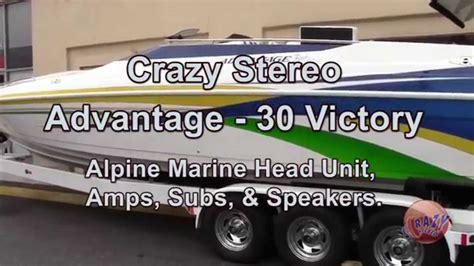 alpine boat stereo super clean install of alpine marine audio sound system on