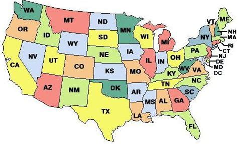 map of us states abbreviations pin by kahrimanian on grade 7