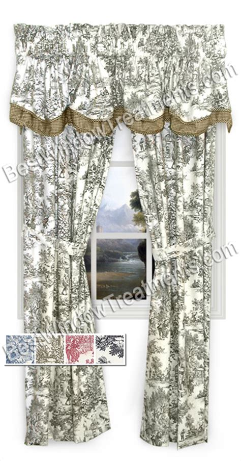 toile kitchen curtains toile kitchen curtain toile curtains and valances ask home design