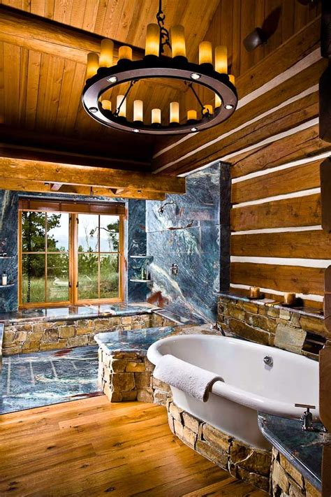 bathroom log beautiful log home bathroom retreat things that inspire