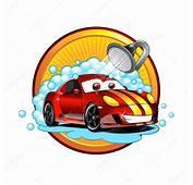 Lustige Cartoon Autowaschanlage Auto Waschmaschine Dusche