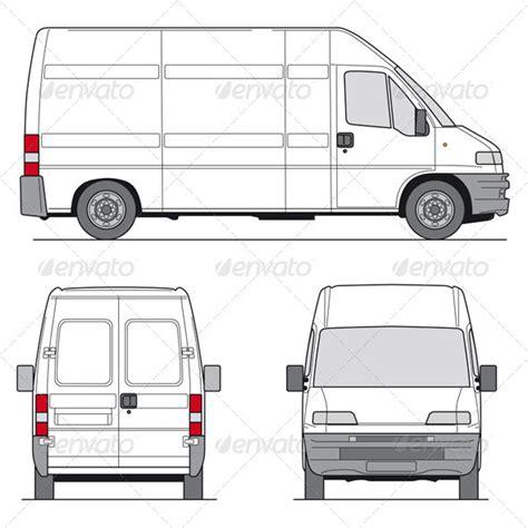 Van Layout Vector | delivery van template vans font logo and fonts