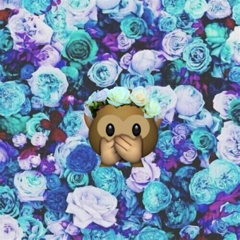 wallpaper emoji flower monkey emoji wallpaper wallpapersafari