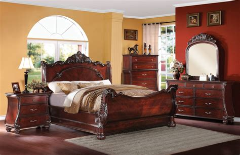 Cherry Wood Bedroom Furniture Abramson Traditional Cherry Wood Master Bedroom Set
