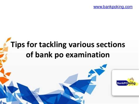 Tips From Bank by Tips For Tackling Various Sections Of Bank Po Examination