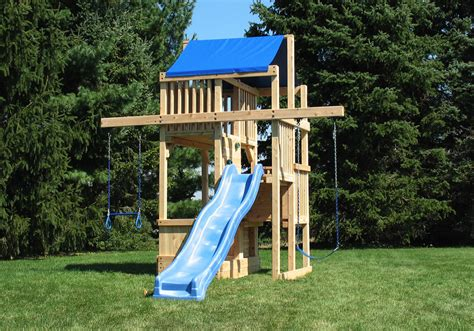 space saver swing set cedar swing sets the quad space saver tower
