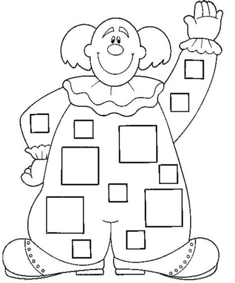 dibujos de un payaso con figuras geometricas figuras geom 201 tricas para colorear payaso web pedag 211 gica