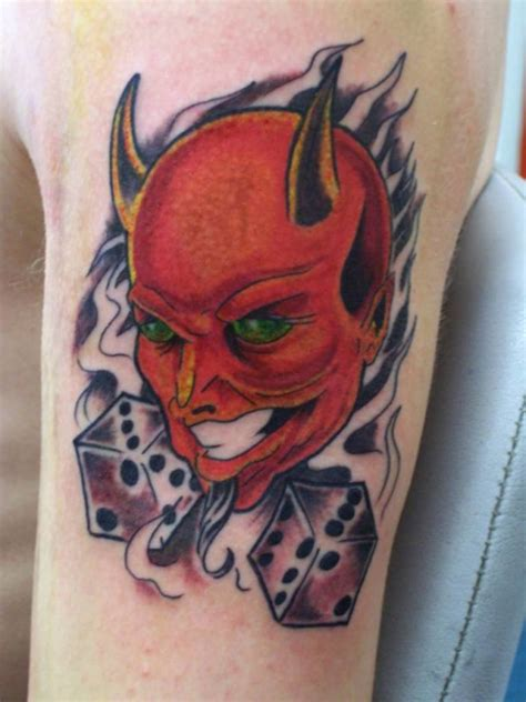 handsome devil tattoo sleeve cover up with looking scary