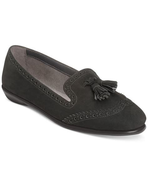 oxford loafer aerosoles winning bet oxford loafers in black lyst