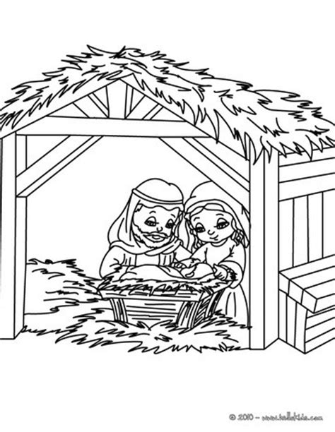 jesus manger or crib coloring pages holidays and observances nativity scene coloring pages hellokids com