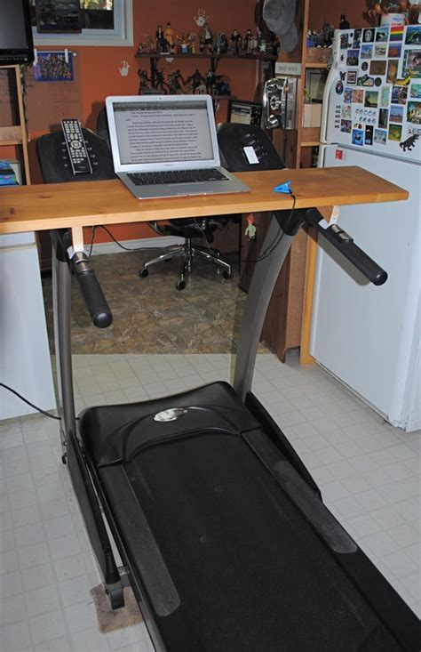 Laptop Desk For Treadmill Macgyvering Your Own Treadmill Desk Geekdad