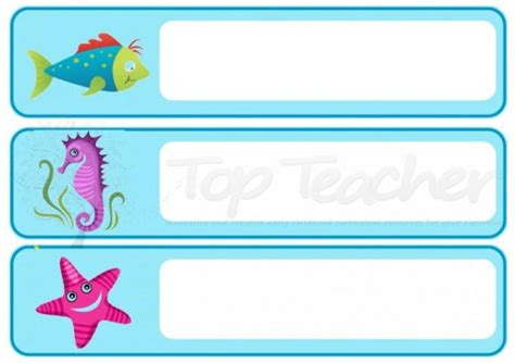 printable under the sea name tags 7 best images of printable name tags for teachers free