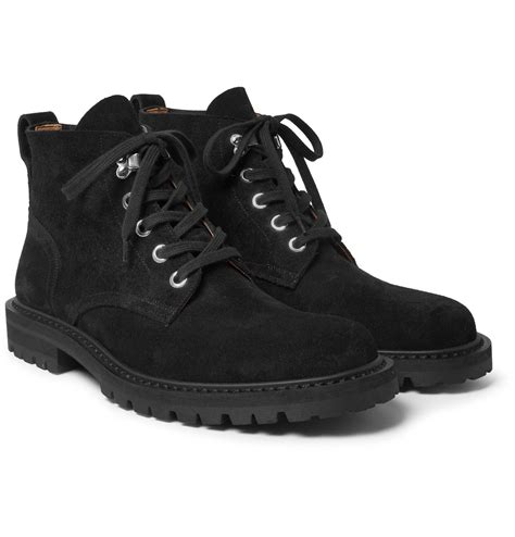 dries noten suede boots in black for lyst