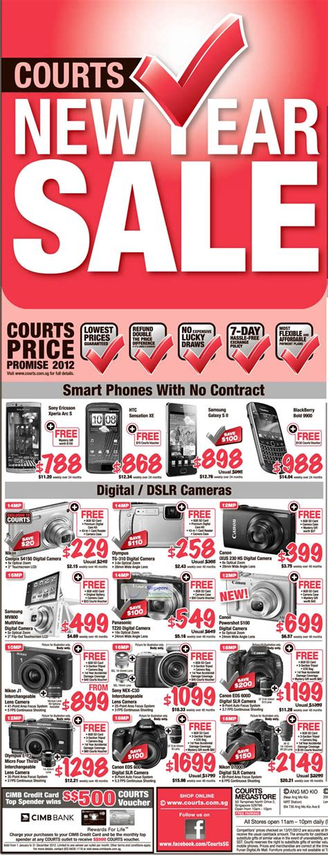 courts new year sale mobile phones digital cameras 187 courts new year festive