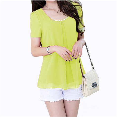 Blouse Wanita Ro Kimochi baju blouse korean style blue denim blouses