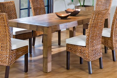 Bamboo Dining Room Furniture Bamboo Dining Room Table And Chairs Barclaydouglas