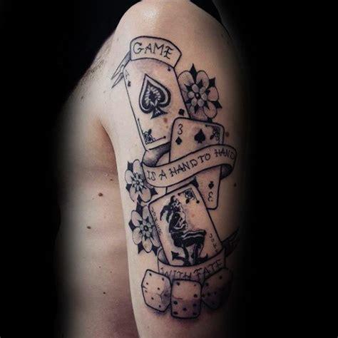 tattoo joker old school 90 spielkarte tattoos f 252 r m 228 nner lucky design ideen