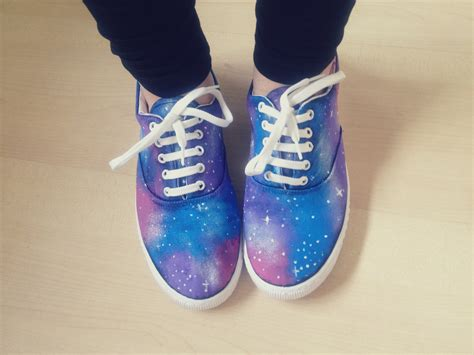 diy white shoes galaxy print shoes 183 how to paint a pair of patterned