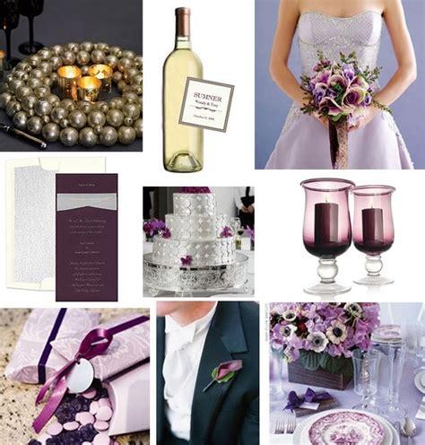 tastefully entertaining event ideas inspiration wedding wednesday plum and silver wedding