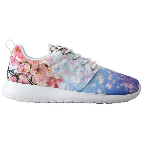 flower pattern nike shoes nike wmns roshe run quot cherry blossom quot 135 liked on