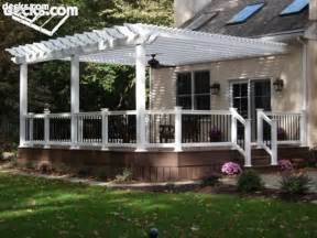Pictures Of Pergolas Attached To The House by Building A Pergola On A Deck Decks Com