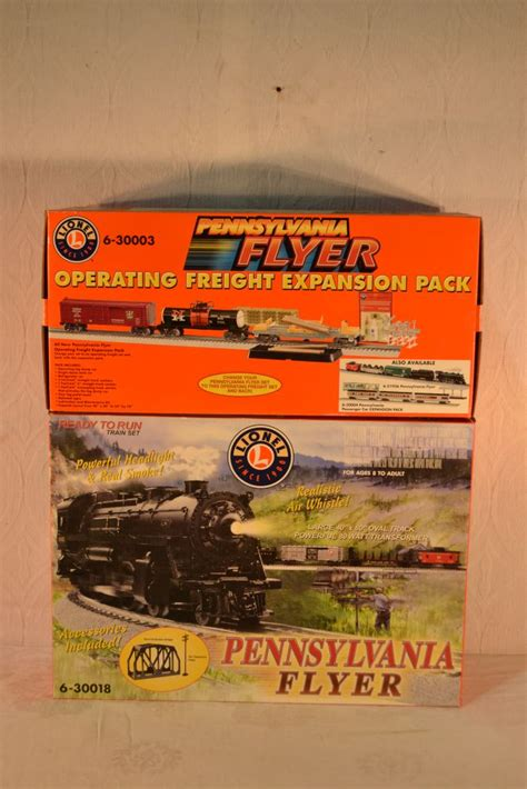lionel pennsylvania flyer train set with expansion pack