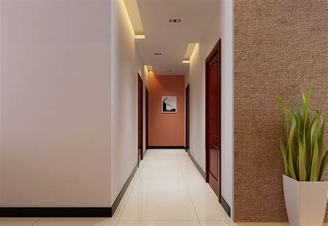 Corridor Ceiling Lights 3d View Interior Design Wall And Ceiling Lights