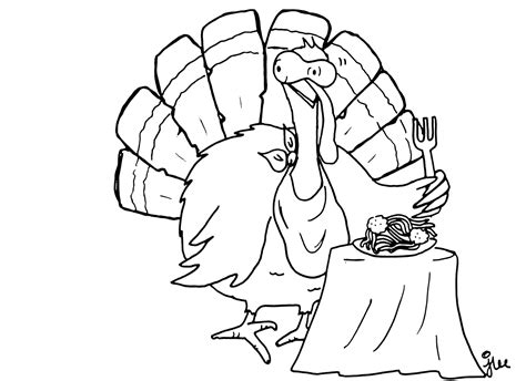 free coloring pages of turkey head