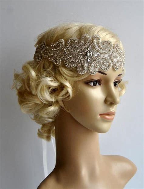 flapper hair diy crystal rhinestone flapper gatsby headband wedding bridal