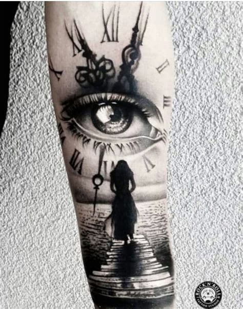 tattoo eye with clock tattoo felsen pinterest tattoo tatting and tatoo