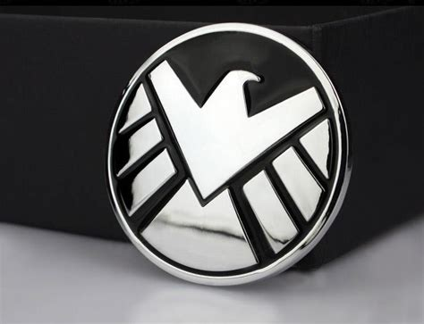 Sticker Logo Avenger Silver Chrome marvel agents of shield 3d chrome metal car sticker badge emblem decals ebay