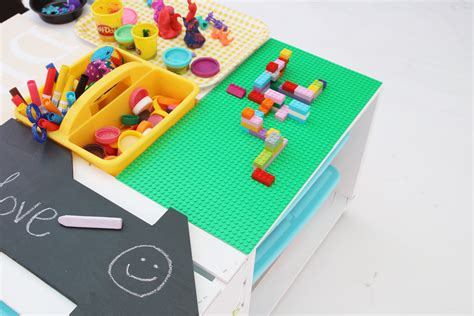 diy children s lego table diy activity center lego table made with 4 wood crates cathie filian steve piacenza