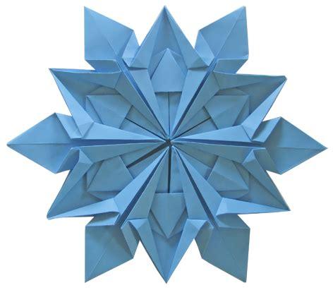 Snowflakes Origami - origami bladfold