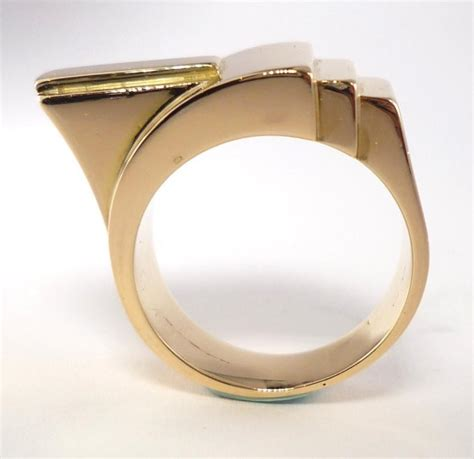 geometric pattern ring geometric gold ring for sale at 1stdibs