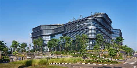 Green Design Indonesia   village inspired office in jakarta is topped with living
