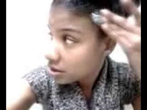 protective hairstyles for thinning edges thin edges protective hairstyle youtube