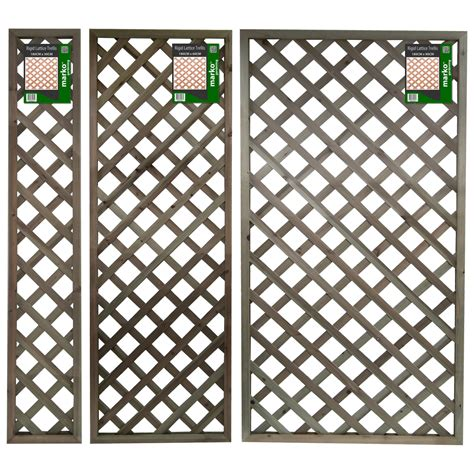Trellis Panels rigid lattice pattern garden trellis 180cm high panels outdoor landscaping fence