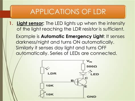 light dependent resistor explained light dependent resistor