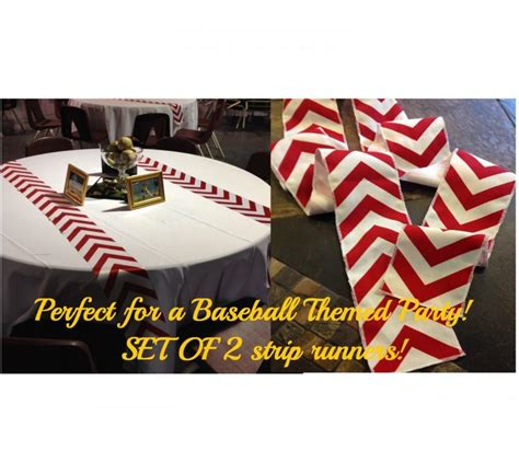 Baseball Themed Chevron Modern Wedding Table