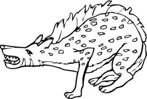 baby hyena coloring page spotted hyena growiling coloring page supercoloring com