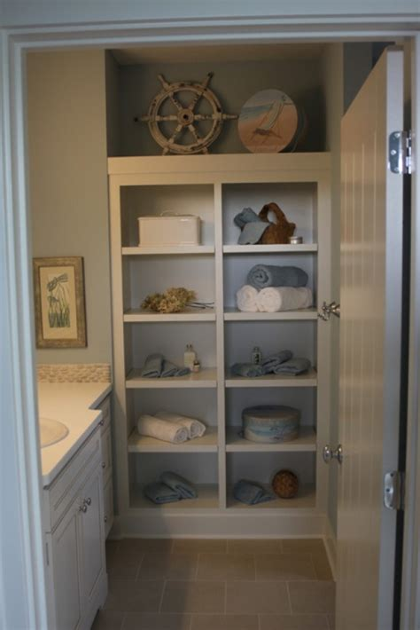 Bathroom Closet Shelving Ideas by 53 Best Images About Small Bathroom Ideas On