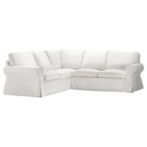 Ikea White Slipcover by Ikea Ektorp Cover 2 2 Sofa Corner Slipcover Blekinge White Sectional 500 475 90 Ebay