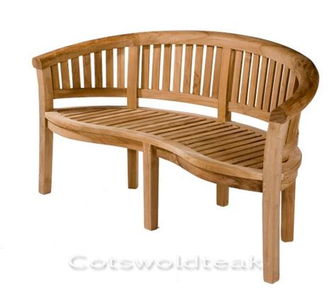 teak banana bench teak curved banana bench crummock