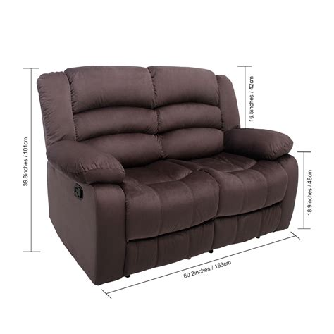 footrest for couch luxury comfort 2seat loveseat reclining sofa couch split