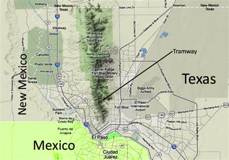 mountains in texas map wyler aerial tramway and the franklin mountains of west texas mountain beltway agu blogosphere