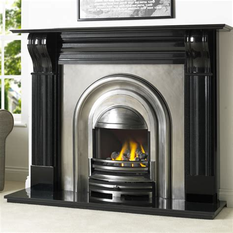 Durham Fireplace by Cast Tec Durham Granite Fireplace Flames Co Uk