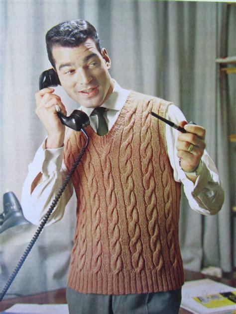 knit mens sweater vest pattern knit sweater vest pattern pdf 1960 s vintage pattern