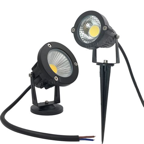12v led yard lights 10 x ip65 led landscape spike light 5w cob garden lights