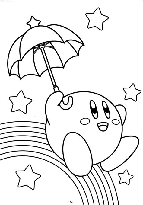 nintendo kirby coloring pages to print free printable kirby coloring pages for kids