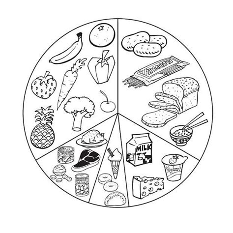 preschool coloring pages nutrition list healthy food coloring page for kids kids coloring